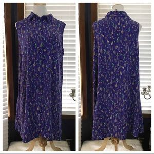 Woman Within Purple Floral Shirtdress 18W